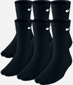 Kids' Nike Performance Cushion 6-Pack Crew Socks - Size Large