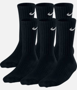 Kids' Nike Performance Cushion 3-Pack Crew Socks - Size Medium