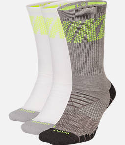 Men's Nike Dry Cushion Crew 3-Pack Training Socks