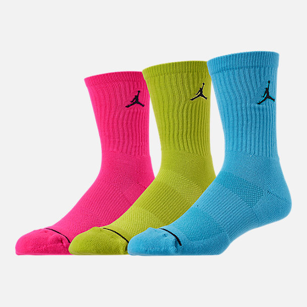 Front view of Jordan Jumpman 3-Pack Crew Socks in Multicolor