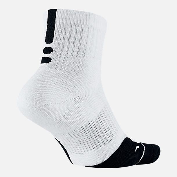Front view of Unisex Nike Elite 1.5 Mid Basketball Socks in White/Black