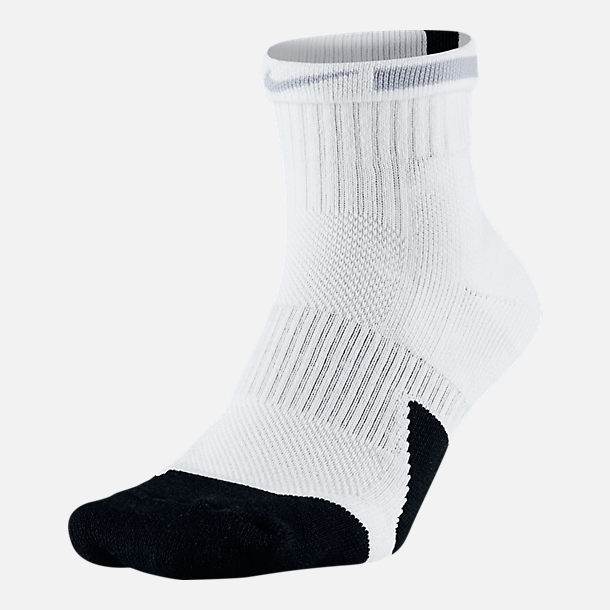 Alternate view of Unisex Nike Elite 1.5 Mid Basketball Socks in White/Black