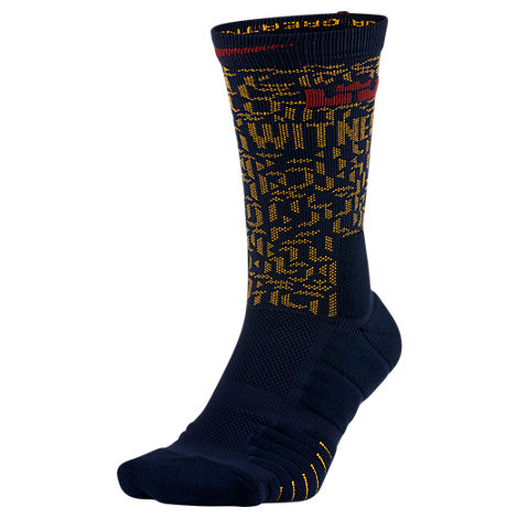 Unisex Nike LeBron Elite Quick Crew Basketball Socks ...