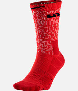 Unisex Nike LeBron Elite Quick Crew Basketball Socks