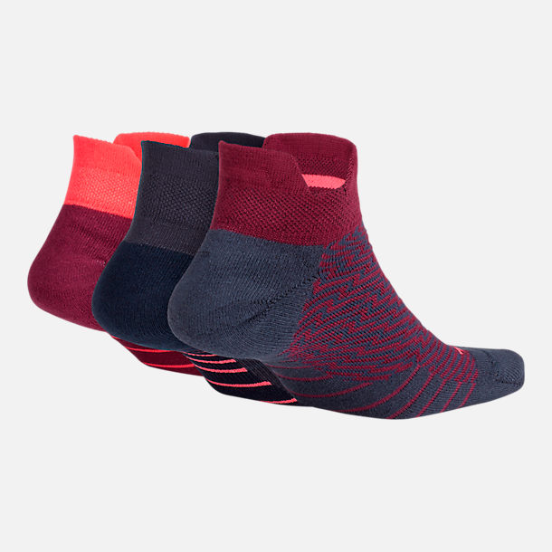 Back view of Women's Nike Dry Cushion Low Training Socks - 3 Pack in Multi-Color