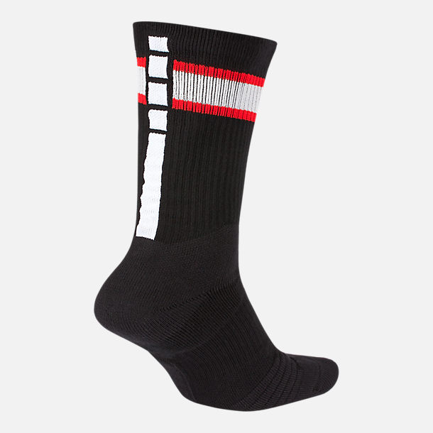 Back view of Unisex Nike Washington Wizards NBA City Edition Elite Crew Basketball Socks in Team Colors