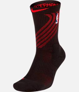 Unisex Nike Portland Trail Blazers NBA City Edition Elite Crew Basketball Socks