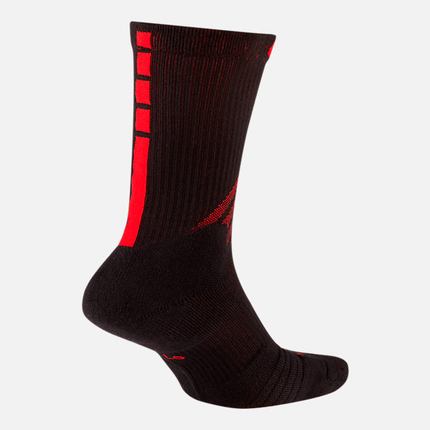 Back view of Unisex Nike Portland Trail Blazers NBA City Edition Elite Crew Basketball Socks in Team Colors