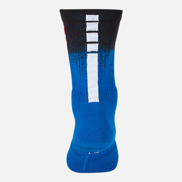 Alternate view of Unisex Nike Orlando Magic NBA City Edition Elite Crew Basketball Socks in Team Colors