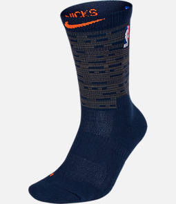 Unisex Nike New York Knicks NBA City Edition Elite Crew Basketball Socks