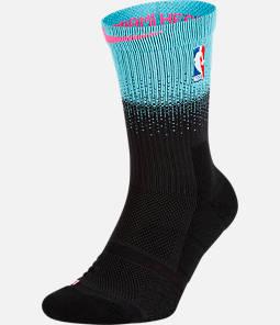Unisex Nike Miami Heat NBA City Edition Elite Crew Basketball Socks