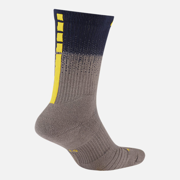 Back view of Unisex Nike Memphis Grizzlies NBA City Edition Elite Crew Basketball Socks in Team Colors