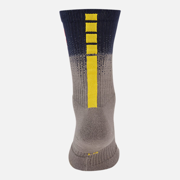 Alternate view of Unisex Nike Memphis Grizzlies NBA City Edition Elite Crew Basketball Socks in Team Colors