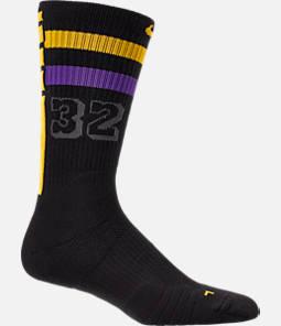Unisex Nike Los Angeles Lakers NBA City Edition Elite Crew Basketball Socks