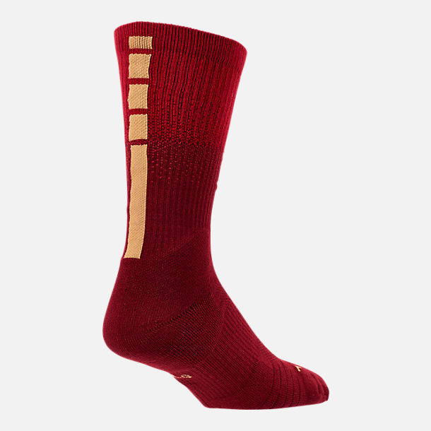 Alternate view of Unisex Nike Houston Rockets NBA City Edition Elite Crew Basketball Socks in Team Colors
