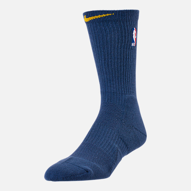 Front view of Unisex Nike Golden State Warriors NBA City Edition Elite Crew Basketball Socks in Team Colors