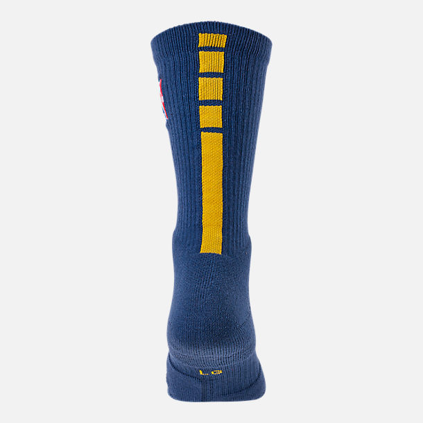 Alternate view of Unisex Nike Golden State Warriors NBA City Edition Elite Crew Basketball Socks in Team Colors