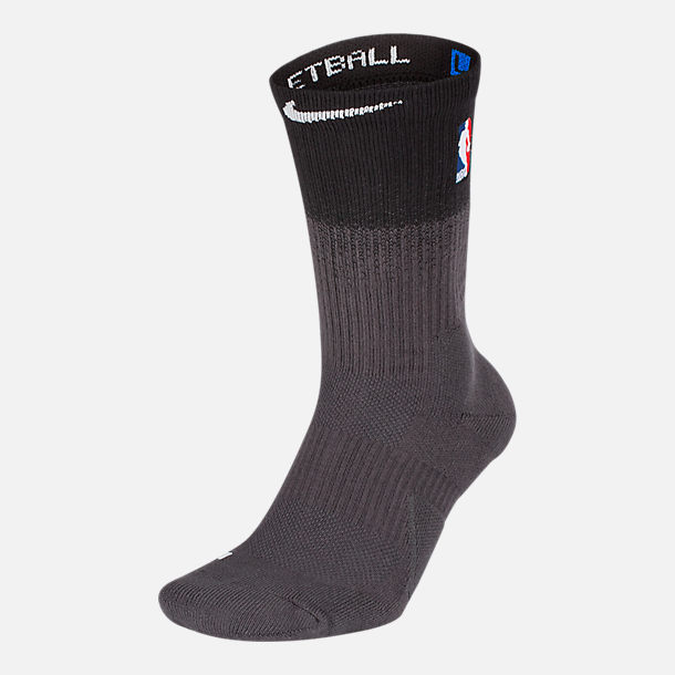 Front view of Unisex Nike Detroit Pistons NBA City Edition Elite Crew Basketball Socks in Team Colors