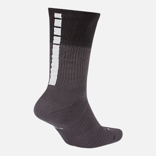 Back view of Unisex Nike Detroit Pistons NBA City Edition Elite Crew Basketball Socks in Team Colors