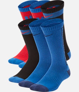 Kids' Nike Everyday Cushioned 6-Pack Crew Socks