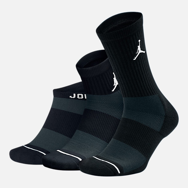Front view of Unisex Jordan Waterfall 3-Pack Socks