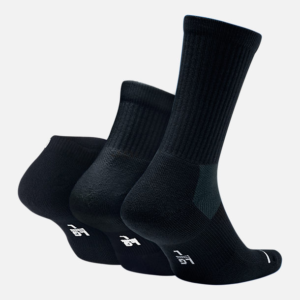 Back view of Unisex Jordan Waterfall 3-Pack Socks