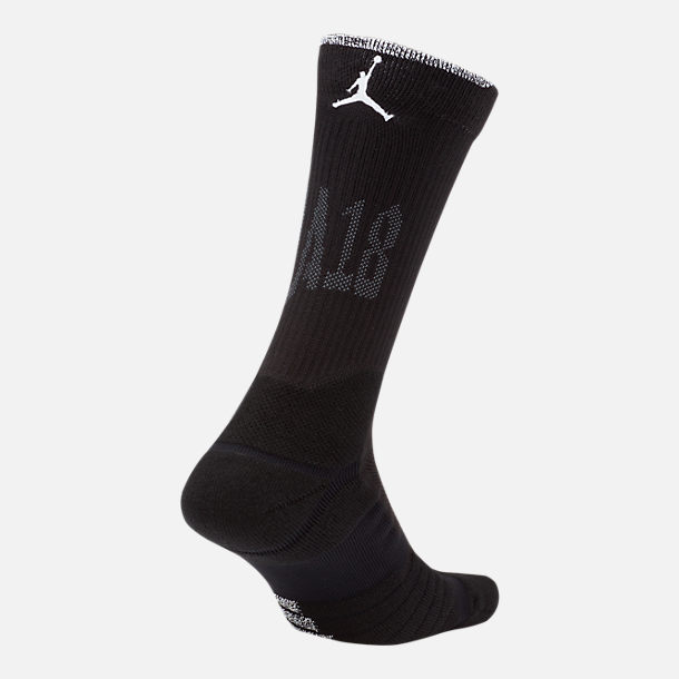 Front view of Unisex Nike NBA All-Star Edition Quick Crew Socks in Black