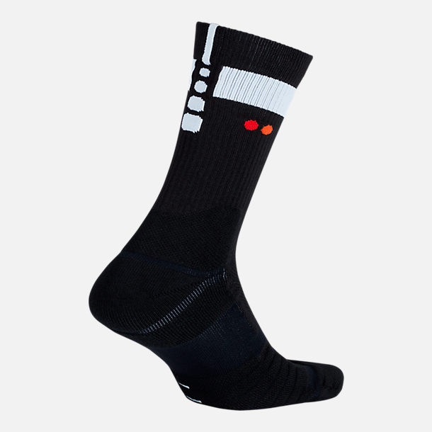 Front view of Unisex Nike Brooklyn Nets NBA Elite City Edition Quick Crew Basketball Socks