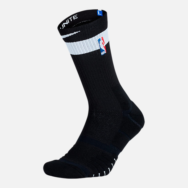Back view of Unisex Nike Brooklyn Nets NBA Elite City Edition Quick Crew Basketball Socks