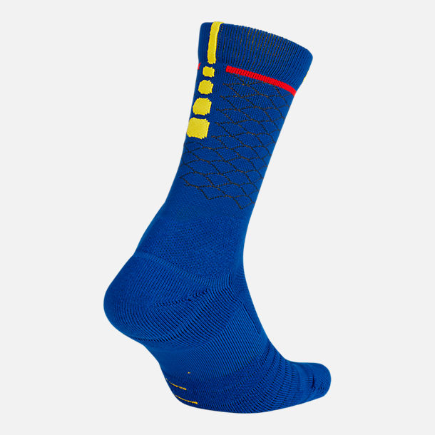 Front view of Unisex Nike Golden State Warriors NBA Elite City Edition Quick Crew Basketball Socks
