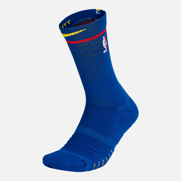 Back view of Unisex Nike Golden State Warriors NBA Elite City Edition Quick Crew Basketball Socks