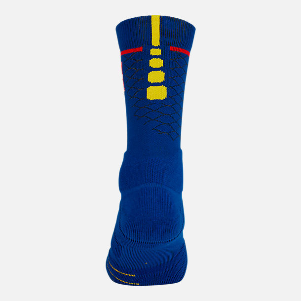 Alternate view of Unisex Nike Golden State Warriors NBA Elite City Edition Quick Crew Basketball Socks