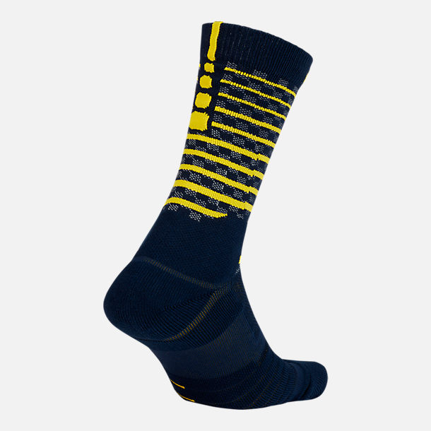 Front view of Unisex Nike Indiana Pacers NBA Elite City Edition Quick Crew Basketball Socks