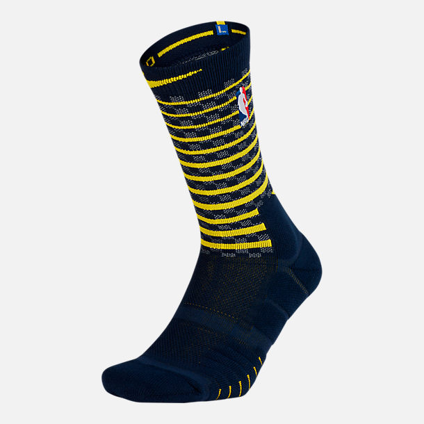 Back view of Unisex Nike Indiana Pacers NBA Elite City Edition Quick Crew Basketball Socks