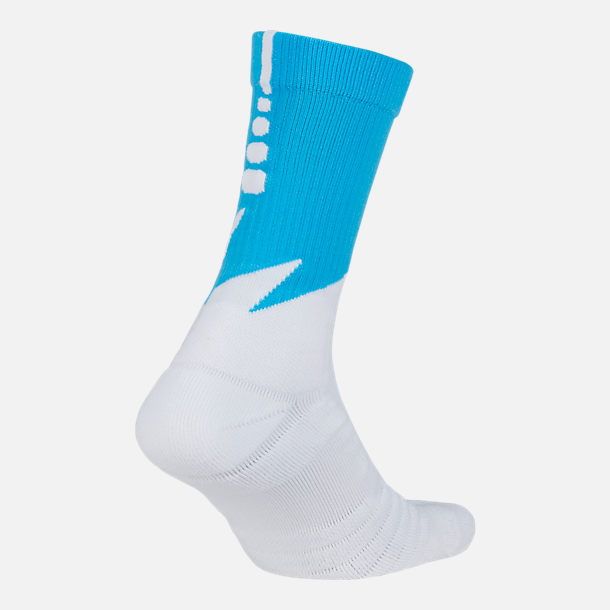 Front view of Unisex Nike Los Angeles Clippers NBA Elite City Edition Quick Crew Basketball Socks in Team Colors