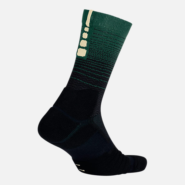 Front view of Unisex Nike Milwaukee Bucks NBA Elite City Edition Quick Crew Basketball Socks