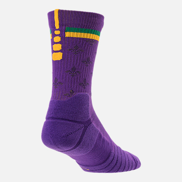 Front view of Unisex Nike New Orleans Pelicans NBA Elite City Edition Quick Crew Basketball Socks