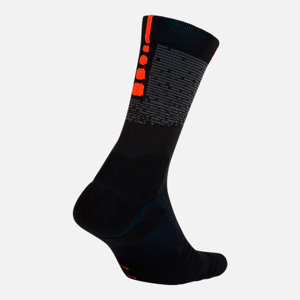 Front view of Unisex Nike Oklahoma City Thunder NBA Elite City Edition Quick Crew Basketball Socks