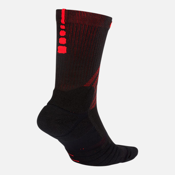 Front view of Unisex Nike Portland Trail Blazers NBA Elite City Edition Quick Crew Basketball Socks