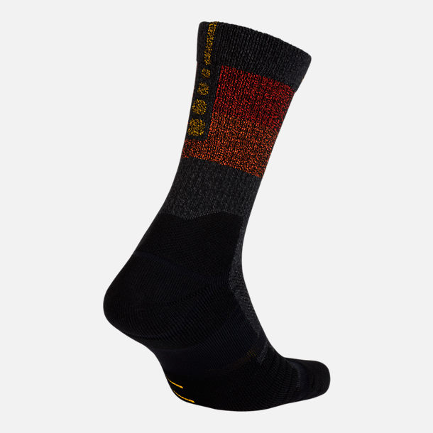 Front view of Unisex Nike Utah Jazz NBA Elite City Edition Quick Crew  Basketball Socks