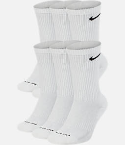 Nike Everyday Plus Cushioned 6-Pack Crew Training Socks
