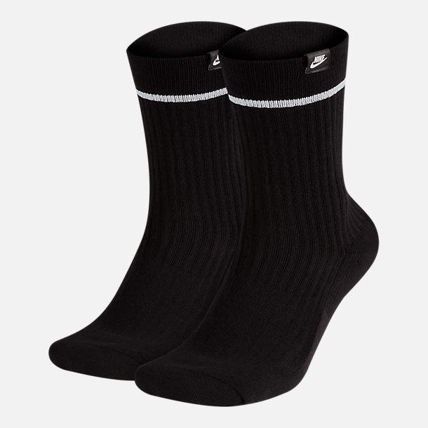 1c559d7bd Front view of Unisex Nike Sportswear 2-Pack Essential Sneaker Crew Socks in  Black/