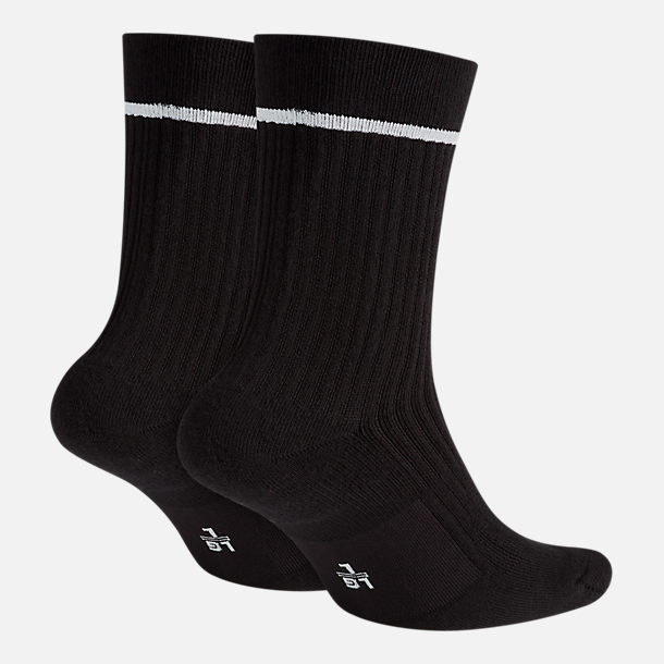 Back view of Unisex Nike Sportswear 2-Pack Essential Sneaker Crew Socks in Black/White
