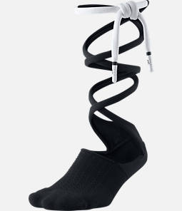 Women's Nike SNKR Sox Knee High Lace Up Socks