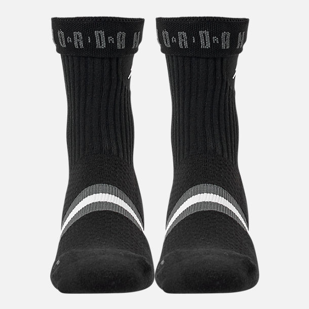 Alternate view of Men's Jordan Legacy RBD Crew Socks in Black/White