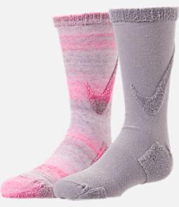 Kids' Nike 3D Swoosh 2-Pack Crew Socks