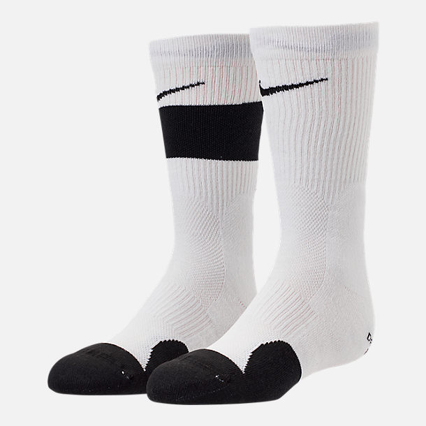Front view of Kids' Nike Elite 2-Pack Crew Basketball Socks