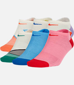 Women's Nike 6-Pack Everyday Cushion No-Show Training Socks