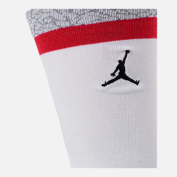 31e6805d1b58fa Alternate view of Unisex Air Jordan Retro 3 Legacy Crew Socks in White Fire  Red