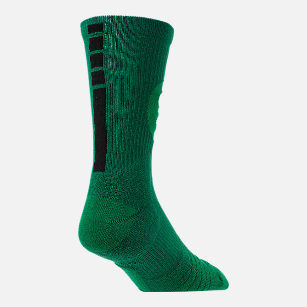 Alternate view of Unisex Nike Boston Celtics NBA Team Elite Crew Basketball Socks in Clover